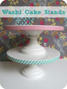 washi cake stands