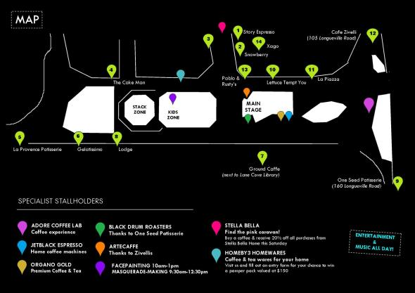 Your Guide To Coffee Carnevale 2014_Map