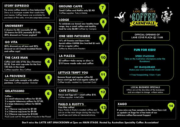 Your Guide To Coffee Carnevale 2014_Specials