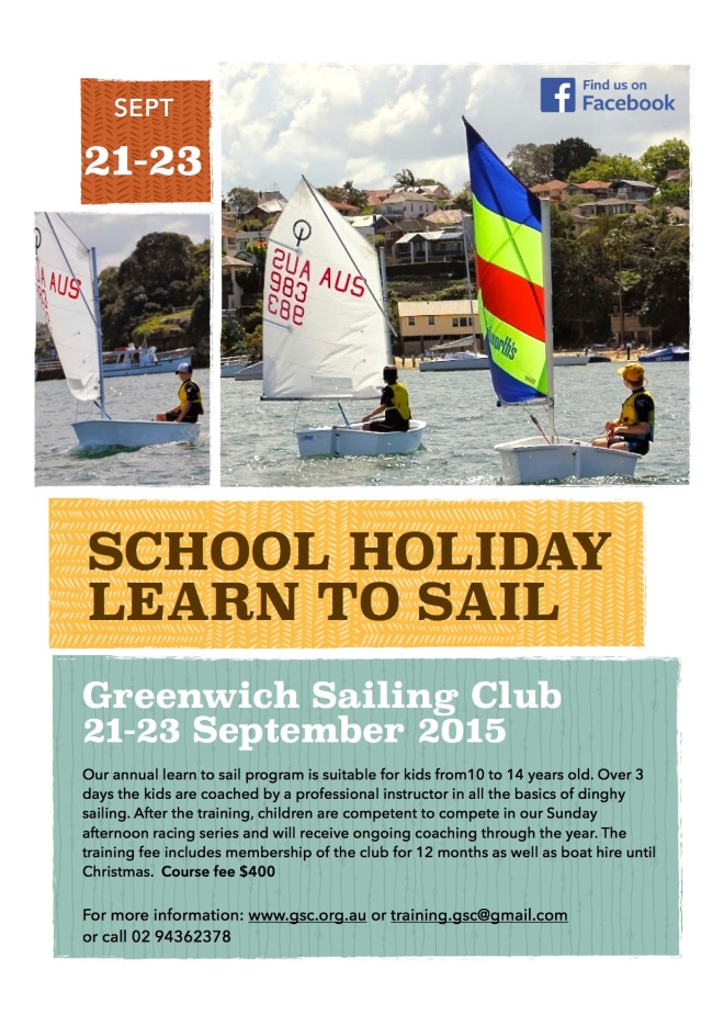 GSC Learn to sail flyer